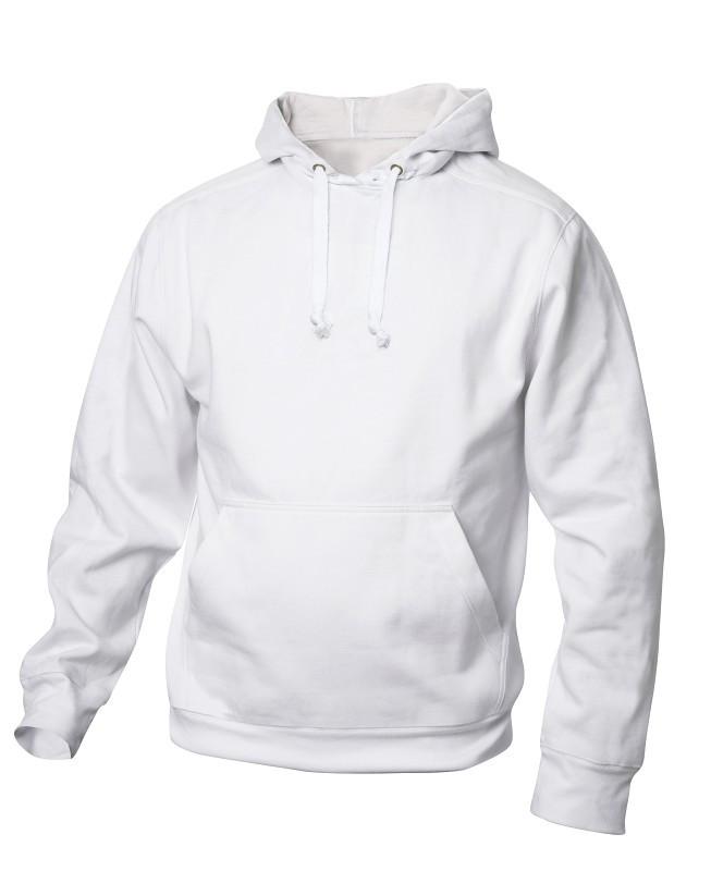 hvid hoodie - hættetrøje