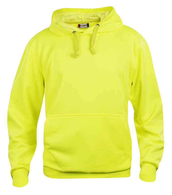 clique hoody neon gul