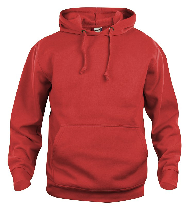 clique hoodie rød