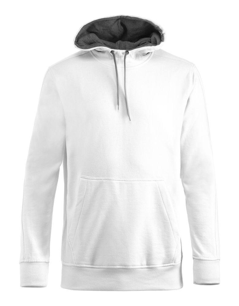 Hvid hættetrøje