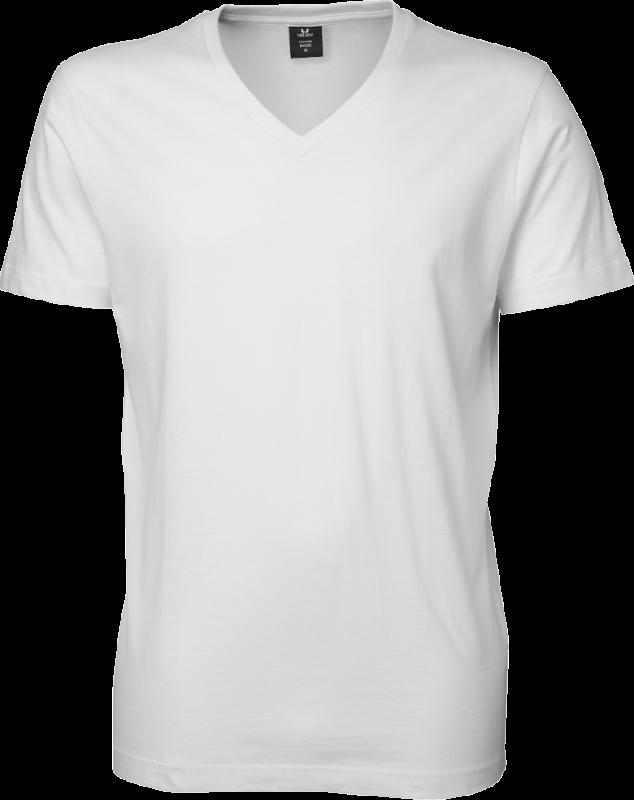 V-hals t-shirt - hvid t shirt til mænd