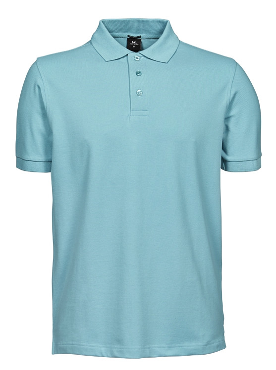 Luxury stretch herre polo - Aqua