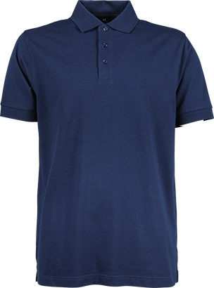 Luxury stretch herre polo - Indigo