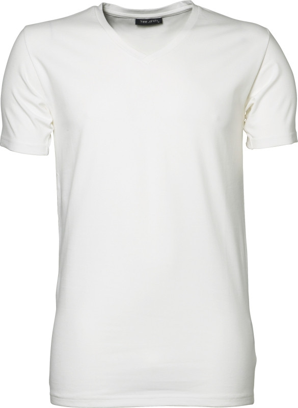 v-hals hvid