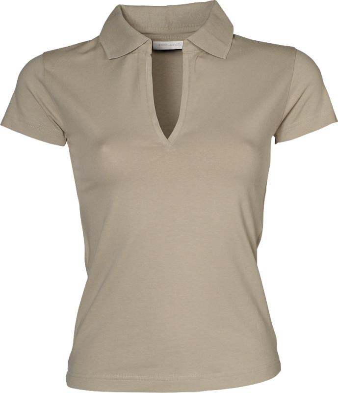 v-hals polo shirt dame