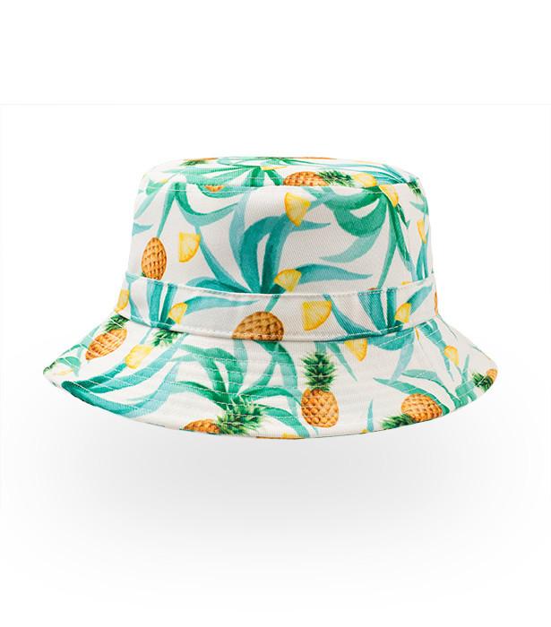 bøllehat med ananasprint