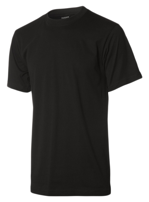 Billig sort børne t-shirt uden tryk