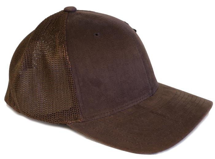 brun flexfit kasket med mesh
