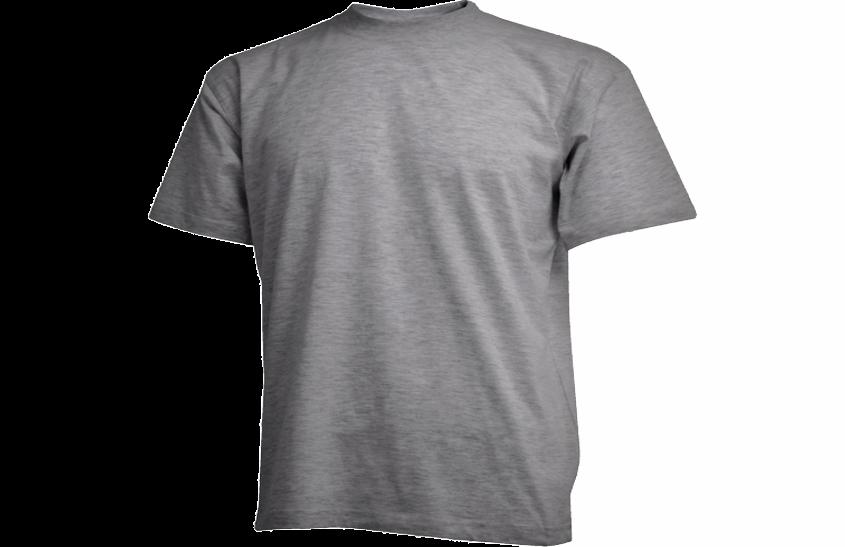 Gråmeleret Camus t-shirt