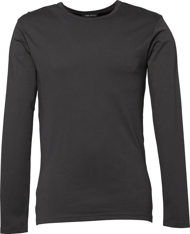 langærmet t-shirt mørk grå