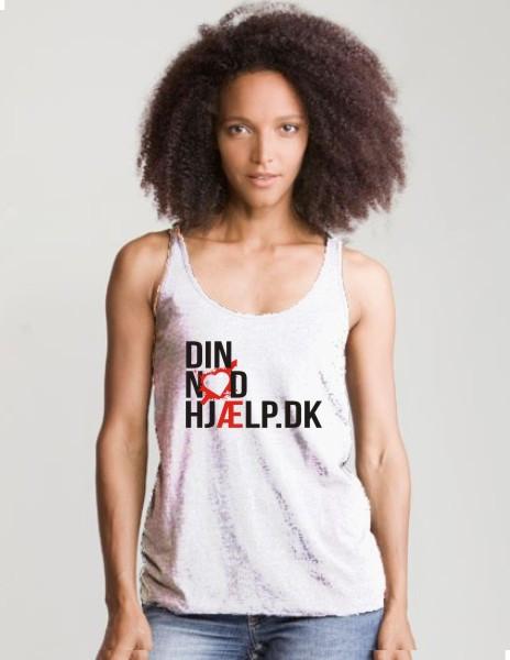 Din Nødhjælp top ærmløs t-shirt