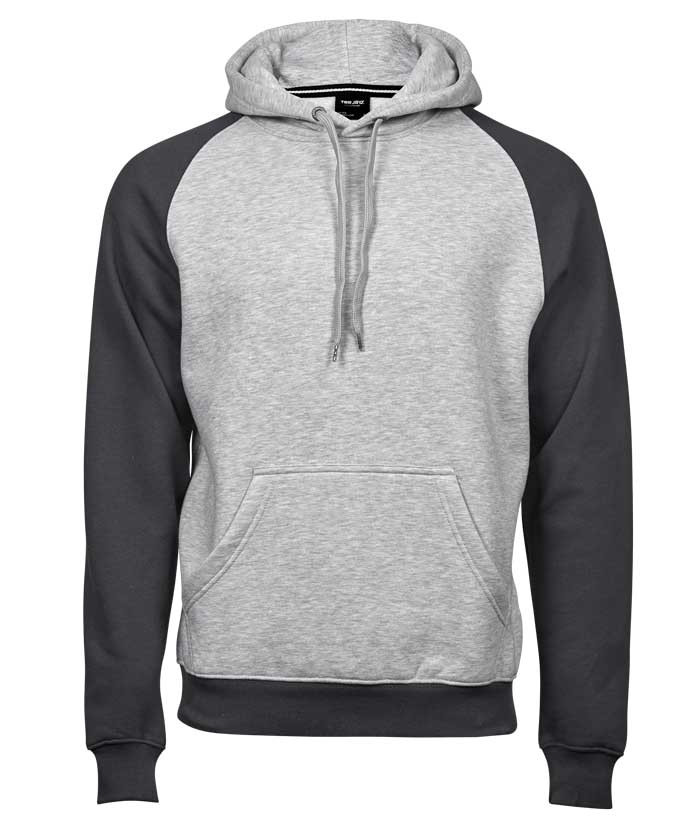 grå hættetrøje