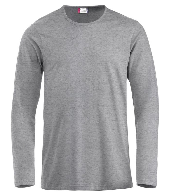 grå langærmet t-shirt til herre
