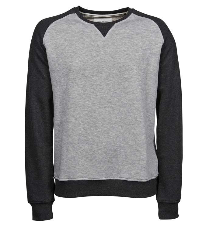 grå sweatshirt