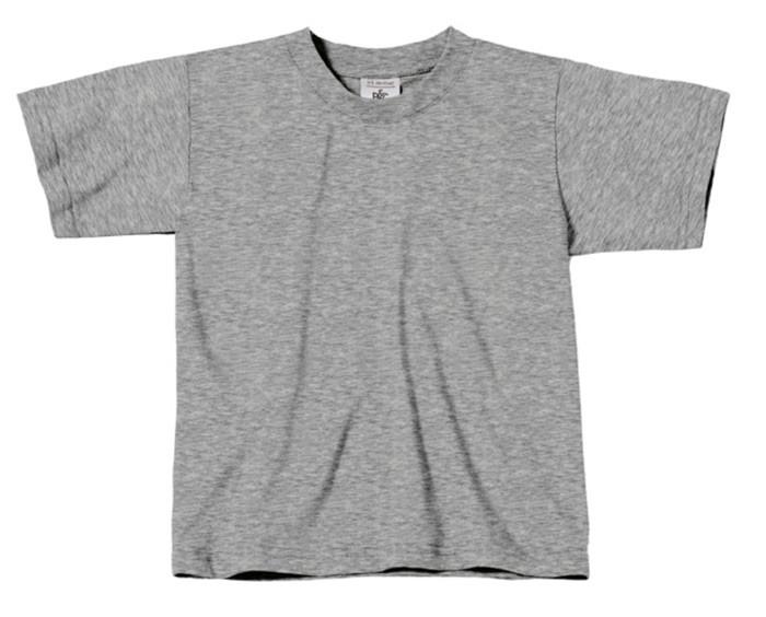 Gråmeleret børne t-shirt - str: 9-11