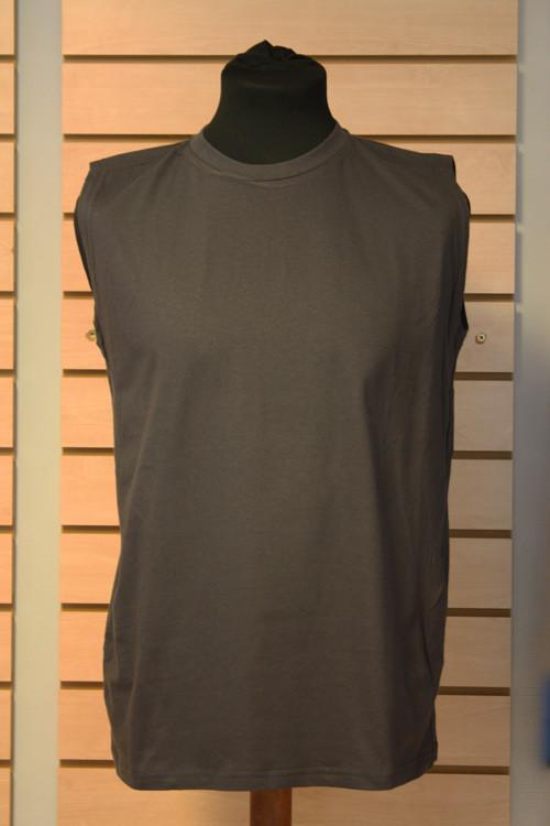grå ærmeløs t-shirt