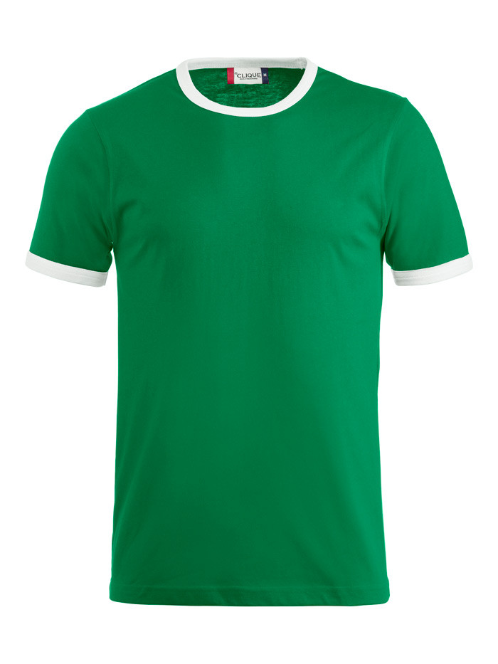 Grøn t-shirt med hvid kant