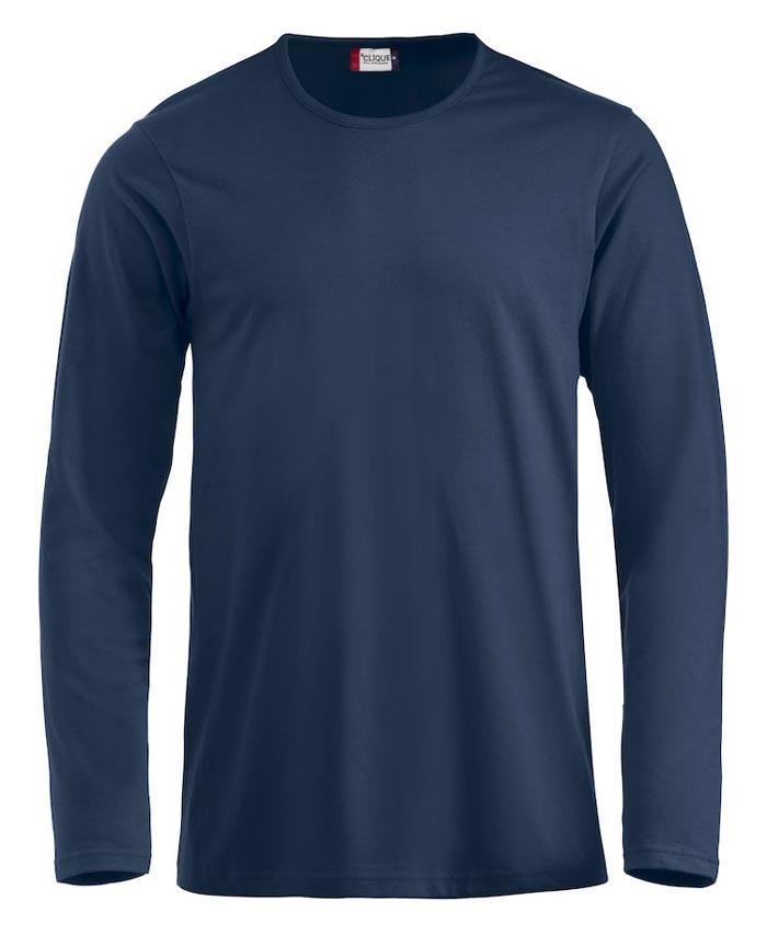 langærmet t-shirt i navy til herre