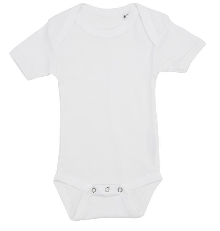 Hvid baby bodystocking