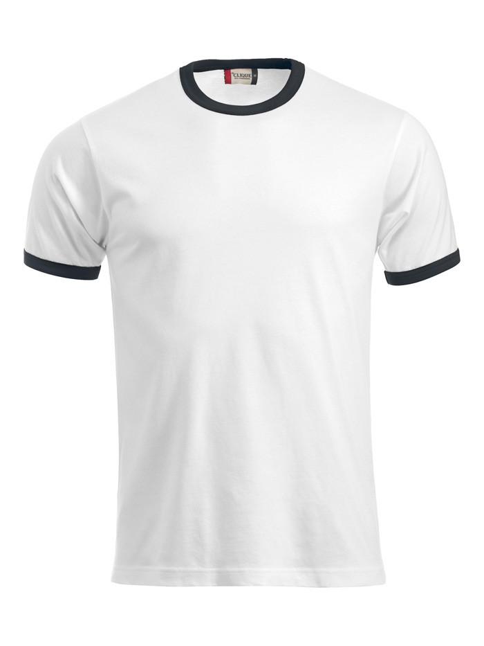hvid t-shirt med sort kant