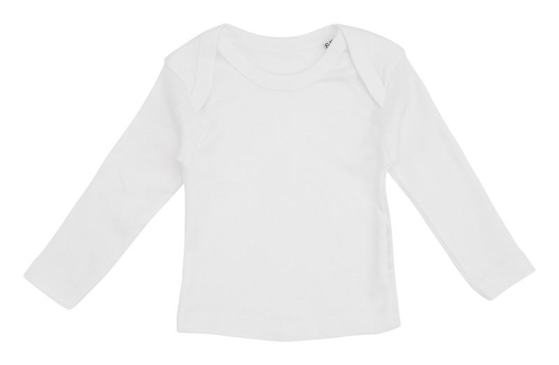 Hvid Baby t-shirt med lange ærmer