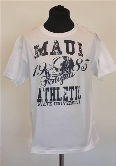 Original Maui universitets T-shirt  i Hvid