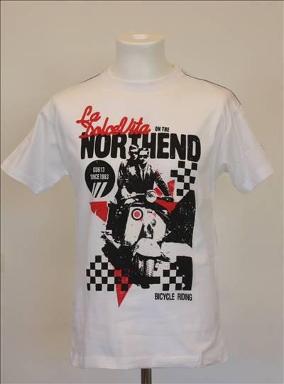 T-shirt hvid med tryk