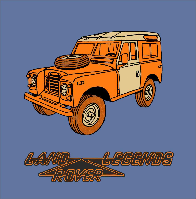 LandRover Serie 3 - T-shirt med tryk