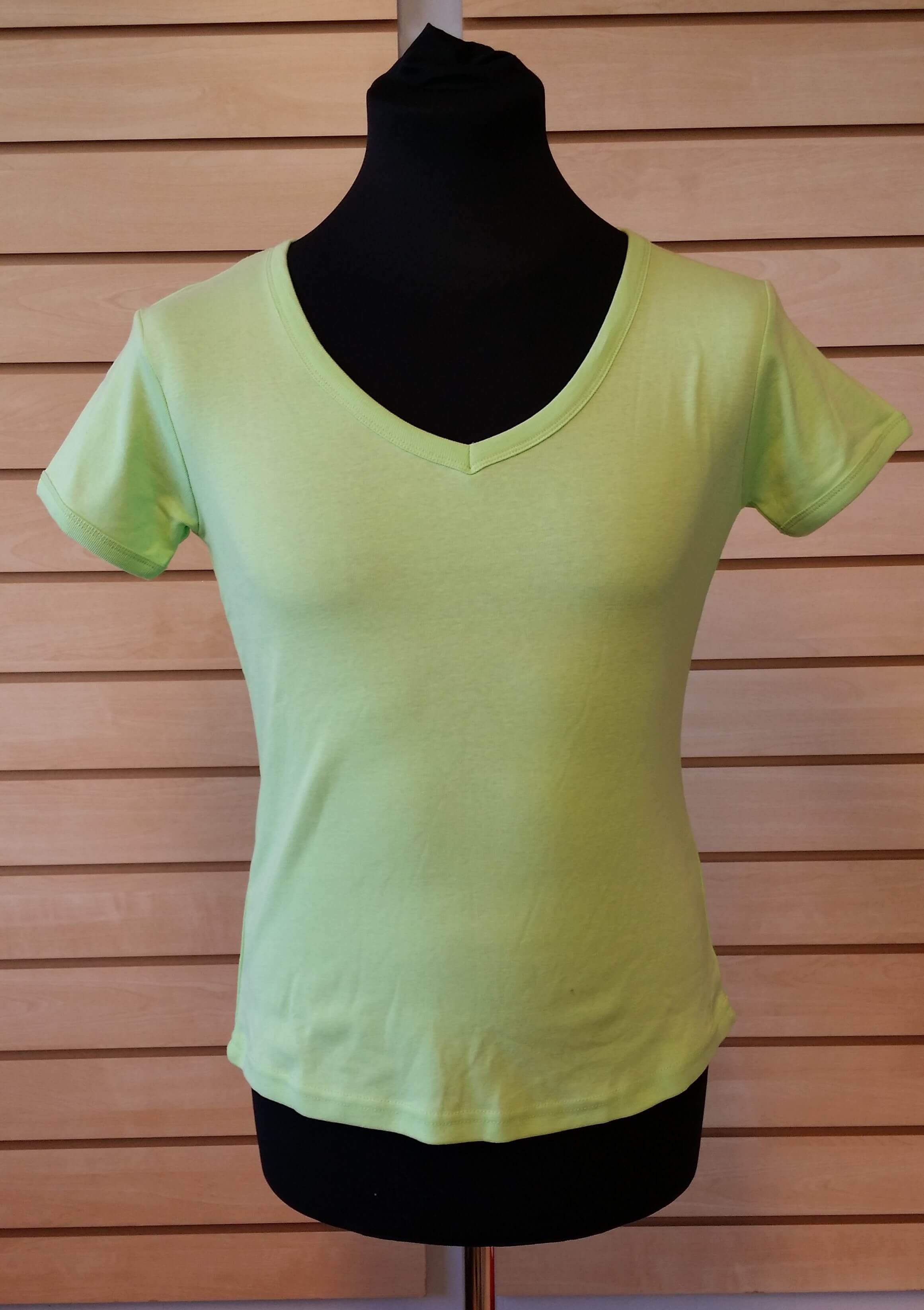 T-Shirt med V udskæring - Dame