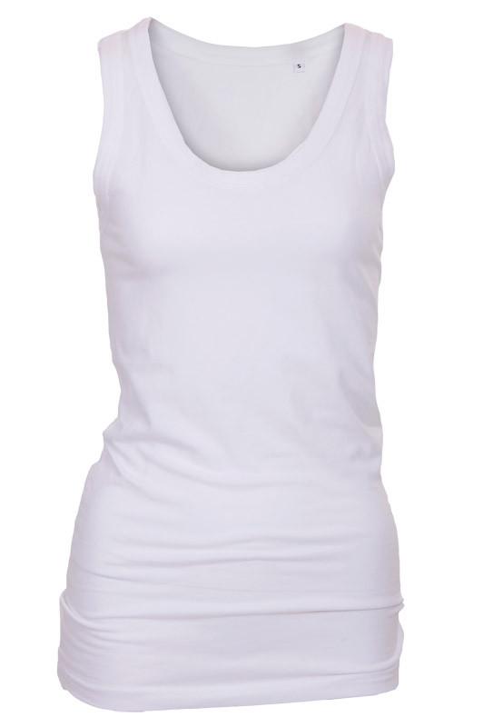 hvid tanktop dame singlet