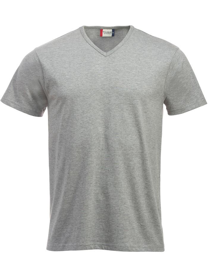 grå v-hals t-shirt
