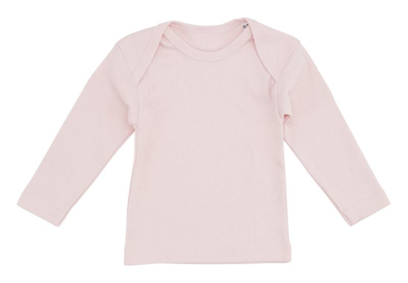 lyserød langærmet t-shirt til baby