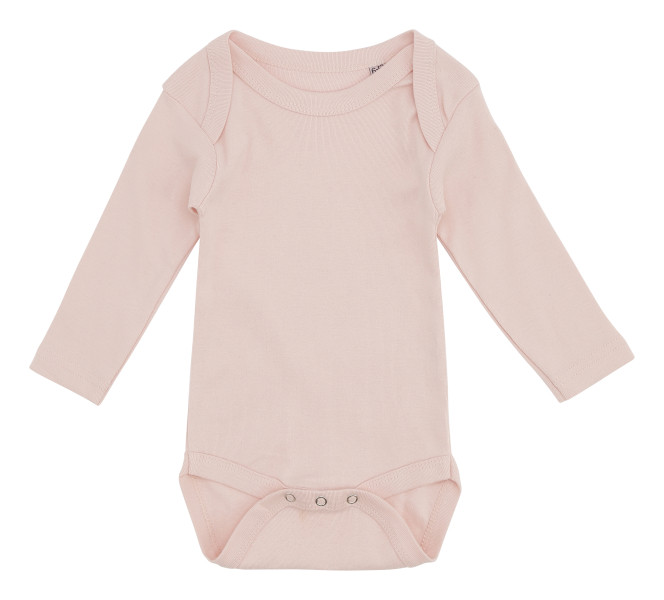Lyserød Baby Body Med Lange Ærmer