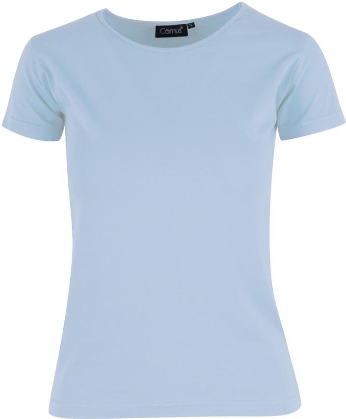 lyseblå dame t-shirt