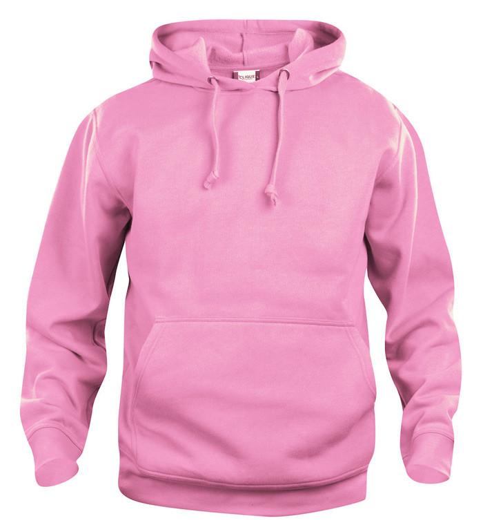 lyserød hoodie