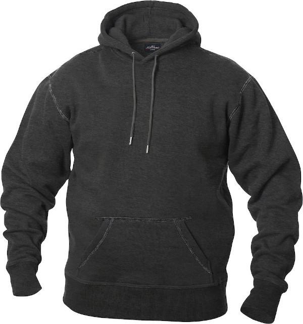 mørkegrå hættetrøje