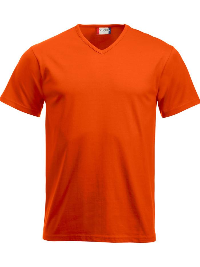 orange v-hals t-shirt