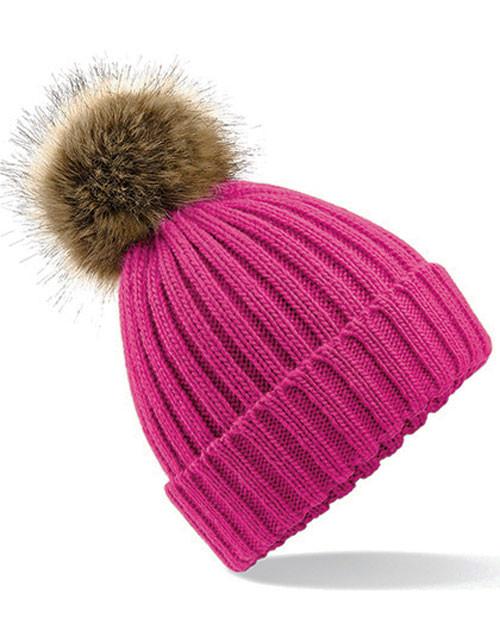 Pink strikhue med kvast