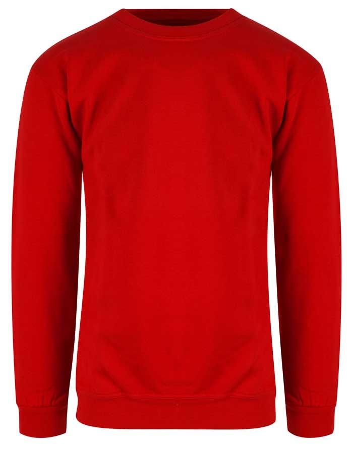 rød sweatshirt