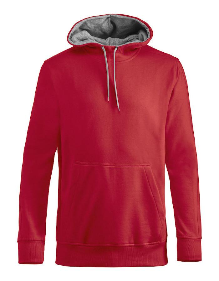 Rød hættetrøje