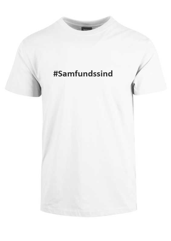 #Samfundssind- Hvid corona t-shirt. Statement t-shirt hvid