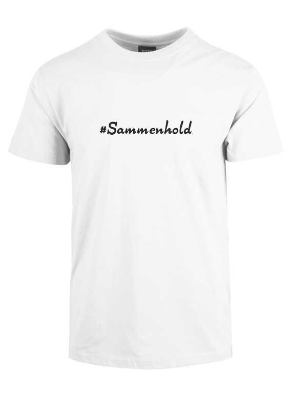 #Sammenhold - Hvid Corona t-shirt. Statement t-shirt