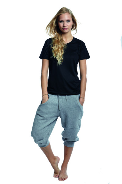 Grå Sweatpants 3/4