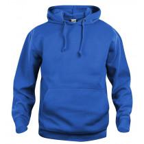 kongeblå hættetrøje