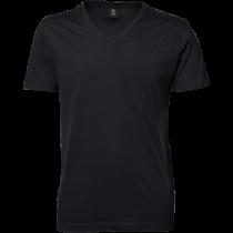 Basic v-hals t-shirt - sort til mænd