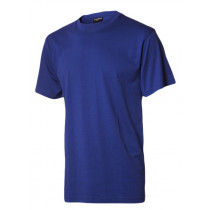 Billig royal  t-shirt uden tryk royal blå