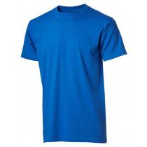 azur blå basis børne t-shirt
