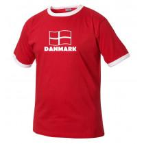 Danmarks t-shirt dannebrog