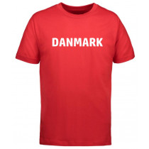 Danmarks T-shirt helt rød