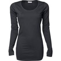 mørk grå langærmet t-shirt